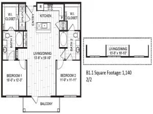 Two Bedroom Apartment For Rent in Houston