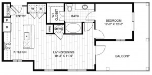 One Bedroom Apartment the Heights,