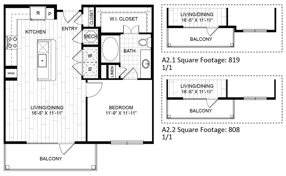 Two Bedroom Apartments